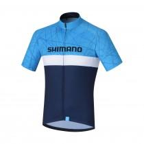 Shimano team maillot de cyclisme manches courtes navy