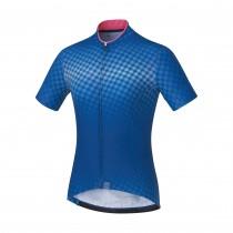 Shimano sumire maillot de cyclisme manches courtes femme bleu