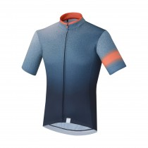 Shimano mirror cool maillot de cyclisme manches courtes navy