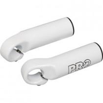 PRO Bar Ends Straight Short Oversized White