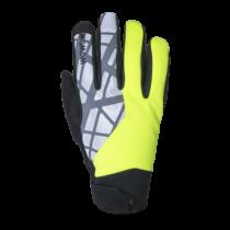 Wowow rainy dusk gants de cyclisme imperméable fluo jaune
