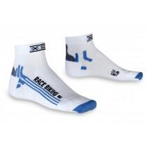 X-Socks bike racing chaussettes femme blanc bleu
