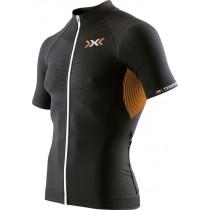 X-BIONIC The Trick Biking Shirt SS Black Orange Shiny