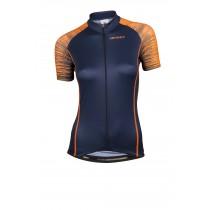 Vermarc seiso sp.l aero maillot de cyclisme manches courtes femme navy bleu fluo orange