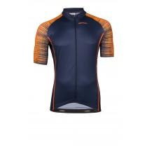 Vermarc seiso sp.l aero maillot de cyclisme manches courtes navy bleu fluo orange