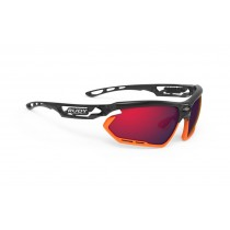 Rudy Project fotonyk fietsbril crystal graphite oranje - multilaser red lens