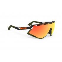 Rudy Project Defender Bril Stripes Black Matte/Black - Multilaser Orange