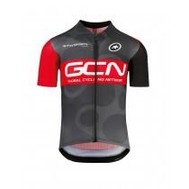 Assos t.gcn pro team maillot de cyclisme manches courtes noir rouge