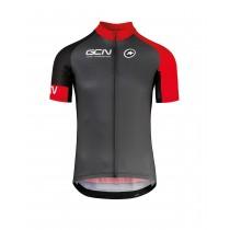 Assos GCN pro training maillot de cyclisme manches courtes noir rouge