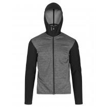 Assos trail spring/fall hooded veste de cyclisme blackseries noir gris