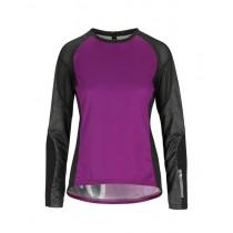 Assos trail maillot de cyclisme à manches longues femme cactus violet