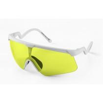 Alba Optics delta fietsbril wit - banana