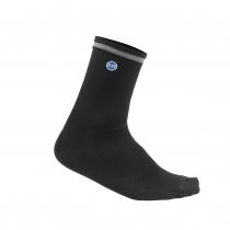 De Marchi classici microfiber chaussettes de cyclisme noir