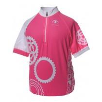 ULTIMA Shirt Km Kids FOCUS Print Roze Wit