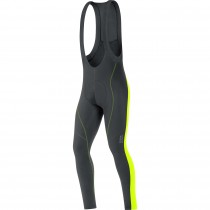 Gore bike wear E 2.0 thermo cuissard long à bretelles noir jaune