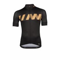 Vermarc winn maillot de cyclisme manches courtes noir or