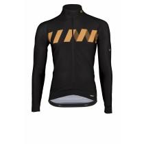 Vermarc winn maillot de cyclisme manches longues noir or
