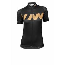 Vermarc winn maillot de cyclisme manches courtes femme noir or