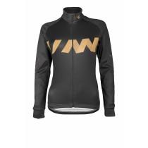 Vermarc winn maillot de cyclisme manches longues femme noir or