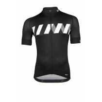 Vermarc winn maillot de cyclisme manches courtes noir blanc