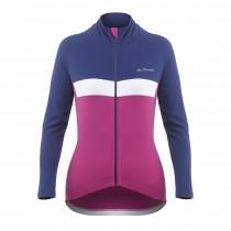 De Marchi monza roubaix light maillot de cyclisme manches longues femme navy rubine rose