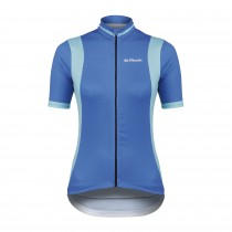 De Marchi granturismo maillot de cyclisme manches courtes femme bleu clair