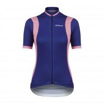 De Marchi granturismo maillot de cyclisme manches courtes femme bleu