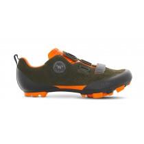 Fizik X5 terra suede chaussures vtt vert orange fluorescent