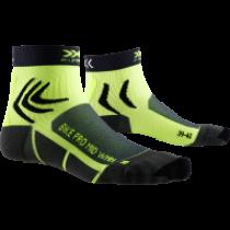 X-Socks bike pro chaussettes de cyclisme femme charcoal gris phyton jaune