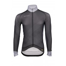 Vermarc zigzag maillot de cyclisme à manches longues noir gris