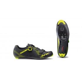 Northwave storm carbon chaussures route noir fluo jaune
