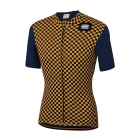 Sportful Checkmate Jersey - Blue Twilight Gold
