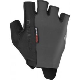 Castelli Rosso Corsa Espresso Glove - Dark Gray