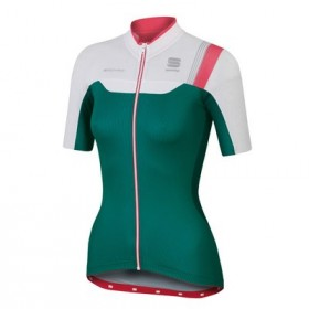 SPORTFUL Bodyfit Pro Lady Jersey SS Green White Pink Coral