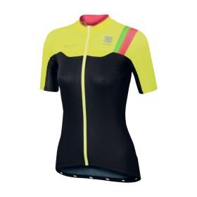SPORTFUL Bodyfit Pro Lady Jersey SS Black Yellow Fluo