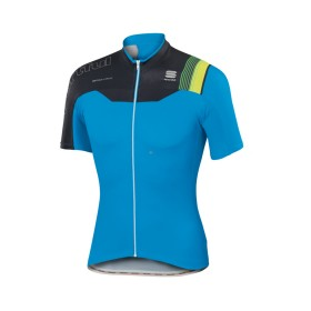 SPORTFUL Bodyfit Pro Team Jersey SS Electric Blue Black Green Fluo