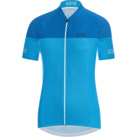 Gore C3 optiline maillot de cyclisme manches courtes femme cyan bleu ciel bleu