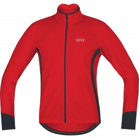 Gore c5 thermo maillot de cyclisme manches longues rouge noir