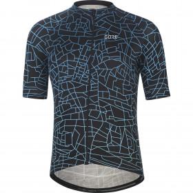Gore Wear Gotham Jersey Mens - Black/Sphere Blue