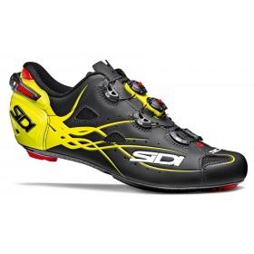 Sidi Shot matt chaussures route mat noir fluo jaune