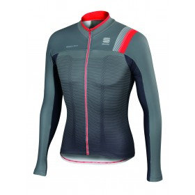 SPORTFUL Bodyfit Pro Thermal Jersey LS Green Olive Anthra Fire Red