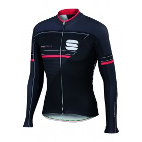 SPORTFUL Gruppetto Thermal Jersey LS Black Anthra Red