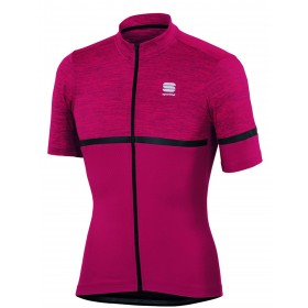 Sportful giara maillot de cyclisme manches courtes bordeaux noir