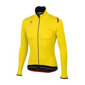 Sportful fiandre ultimate ws veste de cyclisme jaune fluorescent noir