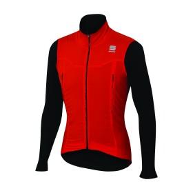 Sportful R&D strato top maillot de cyclisme manches longues rouge noir