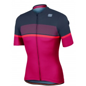 Sportful frequence maillot de cyclisme manches courtes raspberry wine anthracite fluo coral