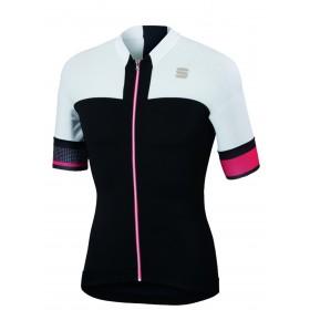 Sportful strike maillot de cyclisme manches courtes noir blanc