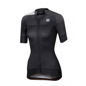 Sportful bodyfit pro 2.0 evo maillot de cyclisme manches courtes femme noir blanc