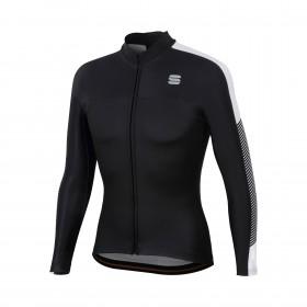 Sportful bodyfit pro thermal maillot de cyclisme manches longues noir blanc