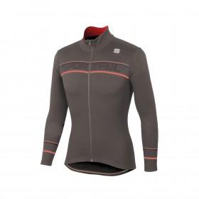 Sportful giro thermal maillot de cyclisme manches longues titanium marron